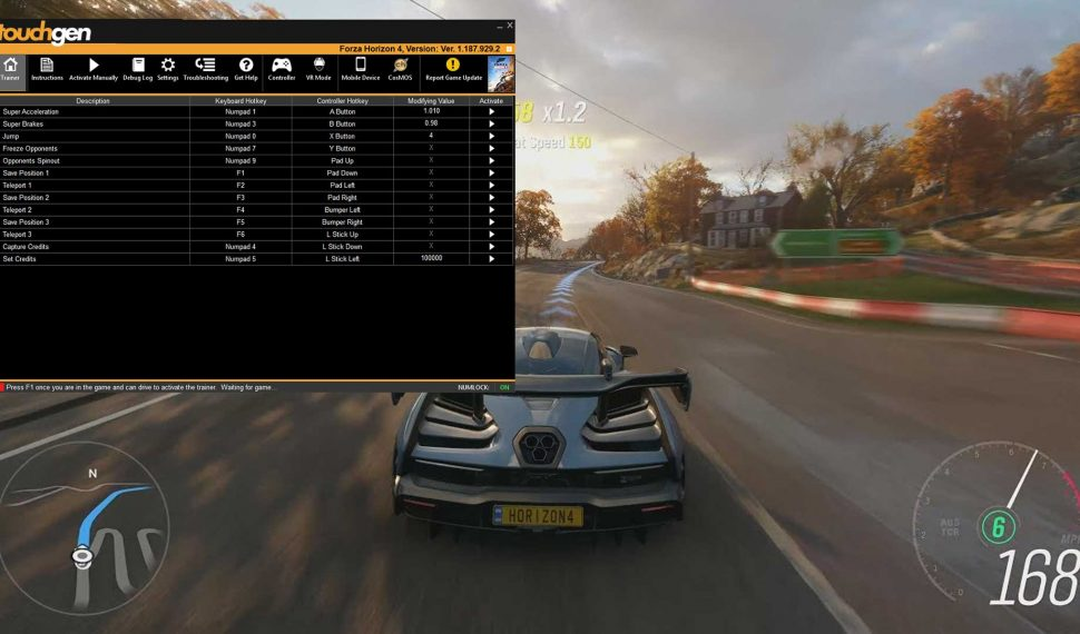 forza horizon 4 trainer download touchgen pc gaming cheats. Black Bedroom Furniture Sets. Home Design Ideas