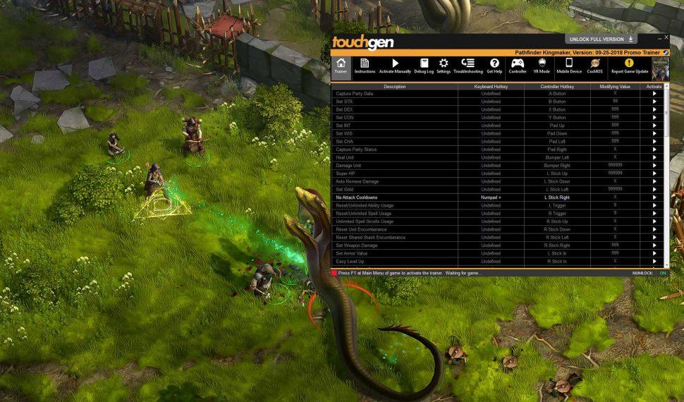 Pathfinder: Kingmaker Trainer